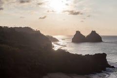 2 Брат Фернандо de Noronha Остров Стоковое Фото