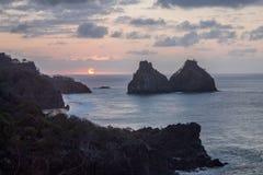 2 Брат Фернандо de Noronha Остров Стоковые Фото