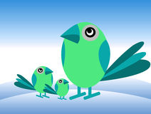 брат s птиц Стоковая Фотография