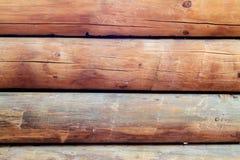 Бревенчатая хижина огораживает горизонтальную Стоковые Фото