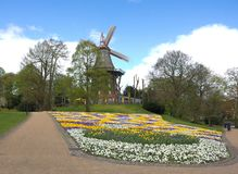 Бремен - ветрянка в парке - v - Стоковое Фото