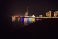 Бремерхафен на ноче Стоковые Изображения RF