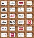 Бренды и логотипы одежды Стоковые Изображения RF