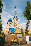 Брест, Беларусь Собор St Nicholas в солнечном летнем дне landmark Стоковые Фотографии RF