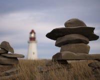 Бретонец Новая Шотландия накидки маяка Стоковые Изображения
