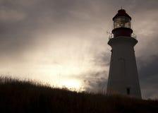 Бретонец Новая Шотландия накидки маяка Стоковое Изображение