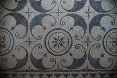 Брешия, Италия, 11-ое августа 2017, старая римская мозаика пола в музее Стоковая Фотография RF