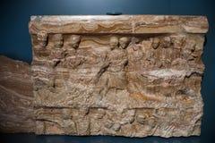 Брешия, Италия, 11-ое августа 2017, старая скульптура в музее  Стоковая Фотография