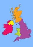 Британия большая Ирландия Стоковое Изображение