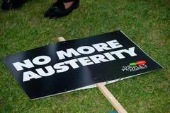 Британия заслуживает подъем оплаты - закончите марш протеста крышки теперь Стоковые Изображения