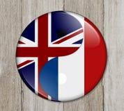 Британия и Франция работая совместно Стоковое Изображение