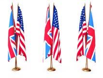 Британия flags большое соединенное положение Стоковое Изображение RF