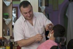 бритье бритвы прямое Стоковые Изображения RF