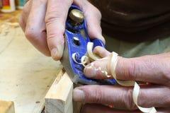 брить выпушки плотничества плоский Стоковые Фото