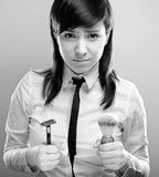 брить женщину Стоковые Изображения RF