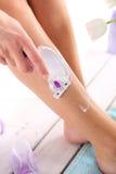 брить ног Стоковая Фотография RF