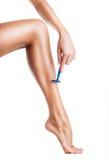 брить ног Стоковые Фото