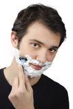 брить человека Стоковые Фотографии RF
