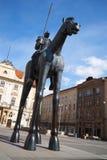 Брно, чехия, 16-ое апреля 2017, статуя маркграфа Jost в Брне, южной Моравии, чехии Стоковая Фотография RF