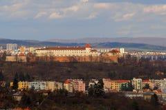 Брно, чехия, 20-ое марта 2017: Крепость которая формирует доминантный город Брна, чехия Spilberk Стоковое Фото