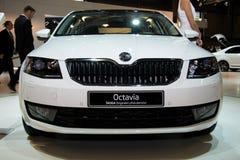 Поколение Skoda Octavia 3-ее на дисплее на 11th варианте международного Autosalon Брна Стоковая Фотография RF