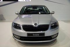 Поколение Skoda Octavia 3-ее на дисплее на 11th варианте международного Autosalon Брна Стоковые Изображения RF