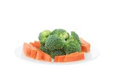 Брокколи и морковь Стоковые Фотографии RF