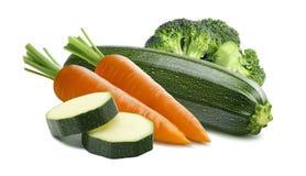 Брокколи морковей цукини изолированный на белой предпосылке Стоковая Фотография