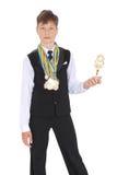 бронзируйте золото серебр много медалей Стоковое Изображение