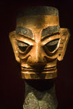 бронзируйте статую sichuan sanxingdui золота фарфора Стоковые Фотографии RF