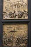 Бронзовая дверь Флоренс Стоковые Фото