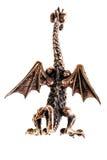 Бронзовая задняя часть figurine дракона Стоковые Фото