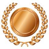 Бронзовая медаль на белой предпосылке Стоковая Фотография