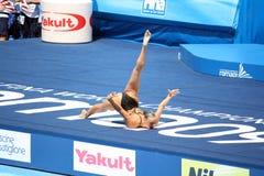 бронзовая медаль beatrice adelizzi синхро Стоковая Фотография