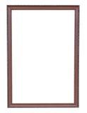 Бронзовая медь и старый год сбора винограда рамки изолированные на белой предпосылке Стоковое Изображение