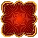 бронзовая рамка излучает красный цвет бесплатная иллюстрация