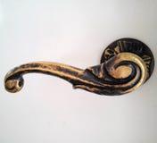 Бронзовая ручка двери Стоковая Фотография