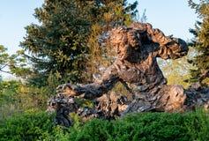 Бронзовая скульптура Карла Линнея Carlolus Linnaeus Стоковое фото RF