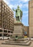 Бронзовая статуя барона Jozsef Eotvos Huszar Адольфом в 1879, Будапештом, Венгрией стоковое фото rf