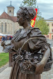 Бронзовая статуя в Alba Iulia, Румынии Стоковое Фото