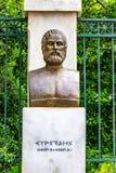 Бронзовая статуя греческого трагического поэта Еврипид стоковое фото