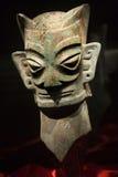 бронзовая статуя маски фарфора Стоковая Фотография