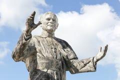 Бронзовая статуя Папы Жан Поля II в fourviere, Лионе стоковое изображение rf