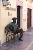 Бронзовая статуя перед гостиницой Дон Gustavo Касы, Кампече, Мексика Стоковые Фотографии RF