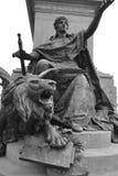 бронзовая статуя льва Стоковые Фотографии RF