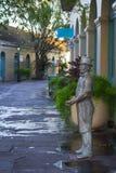 Бронзовая статуя begger Стоковые Изображения RF