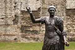 бронзовая статуя london римская стоковое изображение