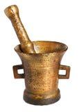 бронзовая ступка старая Стоковая Фотография