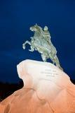 бронзовое святой petersburg России памятника наездника Стоковое Фото