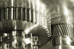 бронзовое двухшпиндельное машинное оборудование света шестерни Стоковое Изображение RF